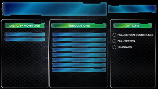 UI/UX Artist: Config Screen Visual Update