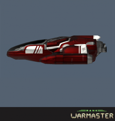 Finished red ship