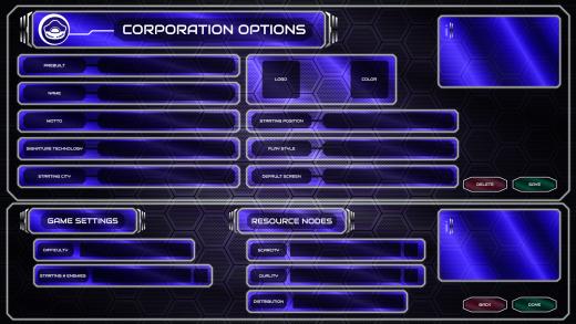 UI/UX Artist: Corporation Screen Mk II
