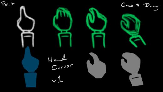 UI/UX Artist: Hand Cursor!